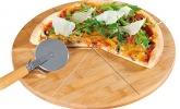 Pizza-Teller mit Pizza-Schneider
