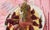 Rinderfilet auf Rotwein - Schalotten - Butter