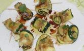 Zucchini - Sardellen - Röllchen
