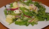 Kartoffelsalat mit Rucola und Schafskäse