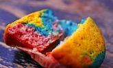 Laktosefreie Regenbogenmuffins