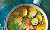 Platz 43: 15 Minuten Gemüse-Nudel-Suppe