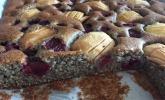 Laktosefreier Apfel-Kirsch-Mohn-Kuchen