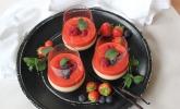 Platz 31: Panna cotta mit Erdbeersauce