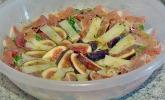 Feldsalat mit Feigen, Serranoschinken und Manchego