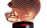 American Football Helm Lampe