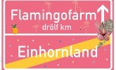Flamingo Ortsschild