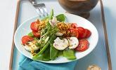 Zuckerschoten-Salat mit Champignons