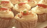 Rübli-Cupcakes mit Frischkäse-Frosting