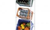 Getränkekistenregal für 3 Kisten