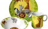 Geschirr-Set Dschungeltiere, 3-teilig