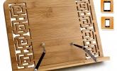 Bambus Kochbuchhalter Leseständer