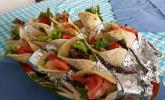 Hähnchen-Wrap mit Honig-Senfsauce