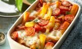 Platz 18: Cremiger Nudelauflauf mit Tomaten und Mozzarella