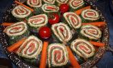 Platz 8: Lachsrolle mit Spinat und Frischkäse