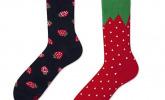 Erdbeer-Socken