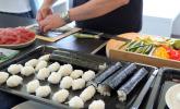Sushi Maki und Reisbällchen für Nigiri