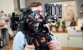 Fabio versucht sich in der Pause als Kameramann
