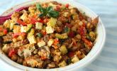 Sattmacher-Couscous-Salat mit Gemüse und Hähnchen