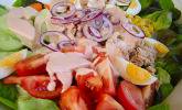 Chefsalat mit Hausdressing