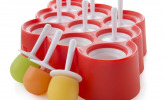 9 Eis- und Luterscherformen, Anti-Haft-Silikon, mit Tropfschutz