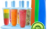 6 BPA-freie Formen für Eis am Stiel und 3 Eislutscher-Formen