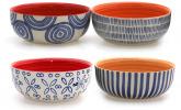 4er Set Müsli- und Dessertschale, Keramik, 15 cm