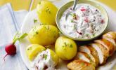 Pellkartoffeln mit Radieschen-Joghurt
