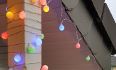 Party Lichterkette bunt 20m mit 80 LED Kugeln