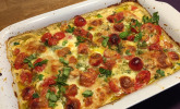 Platz 22: Mozzarella - Hähnchen in Basilikum - Sahnesauce