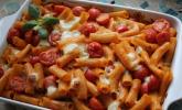 Platz 21: Cremiger Nudelauflauf mit Tomaten und Mozzarella