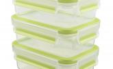 3-teiliges Frischhaltedosenset, Fassungsvermögen 0,55 Liter