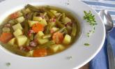 Leckere grüne Bohnensuppe