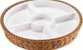 5-Fach unterteilter Porzellan-Menüteller/Antipasti-Teller