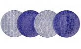 4-tlg. Porzellanteller-Set von Vancasso