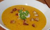 Möhren-Ingwer-Suppe mit Kokosmilch