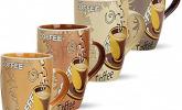 4er Set Kaffeetassen