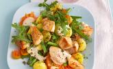Hähnchenfilet mit Kartoffel-Bohnensalat