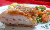 Cordon bleu von der Pute mit Kräuterfrischkäse