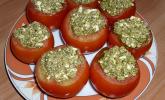Tomaten mit Feta und Pesto gefüllt vom Grill
