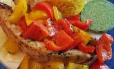 Putenfilet in Pesto - Kräuter - Senf - Marinade