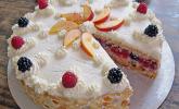 Nektarinen-Himbeer-Torte