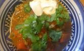 Zitronige Paprika-Linsen-Suppe