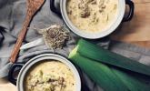 Platz 04: Käse-Lauch-Suppe mit Hackfleisch