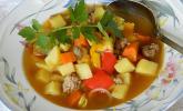 Kartoffel-Paprika Suppe mit Hackfleisch
