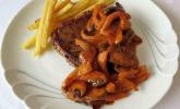 Steak Diana in Rotweinsauce