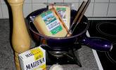 Käsefondue mit dreierlei Käse