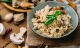 Vorspeise: Steinpilzrisotto mit Salat