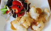 Backfisch mit Gemüse nach Szechuan-Art