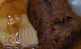 Hauptspeise: Rehrücken im Maronenkräutermantel mit Wildkräuter-Ravioli